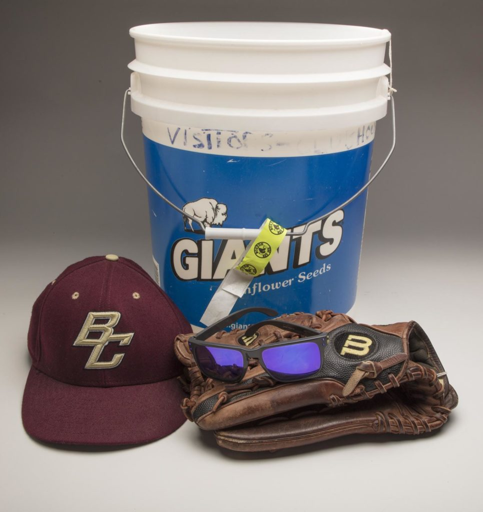 Frates family donates the bucket used for Pete's own Ice Bucket Challenge, along with memorabilia from his playing days at BC, for a display in the Baseball Hall of Fame (Cooperstown, NY)