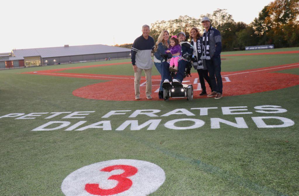 "St. John's Prep baseball field dedicated as ""Pete Frates '03 Diamond"""